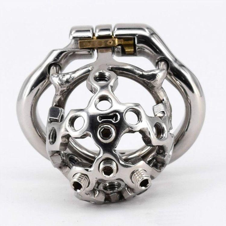 Новейшие пружинные кольца из нержавеющей стали маленький мужской целомудрие петушок устройство игрушки 38 мм, 41 мм, 51 мм, 57 мм петух клетка с шипами винт секс-игрушки