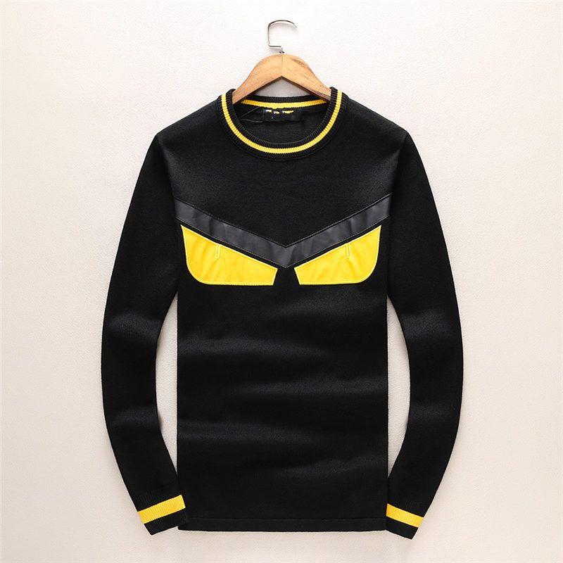 Diseñador de moda para hombre suéter de los hombres de la marca sudadera con capucha sudadera de manga larga de lujo de la marca Monster Eyes prendas de punto de invierno ropa para hombre