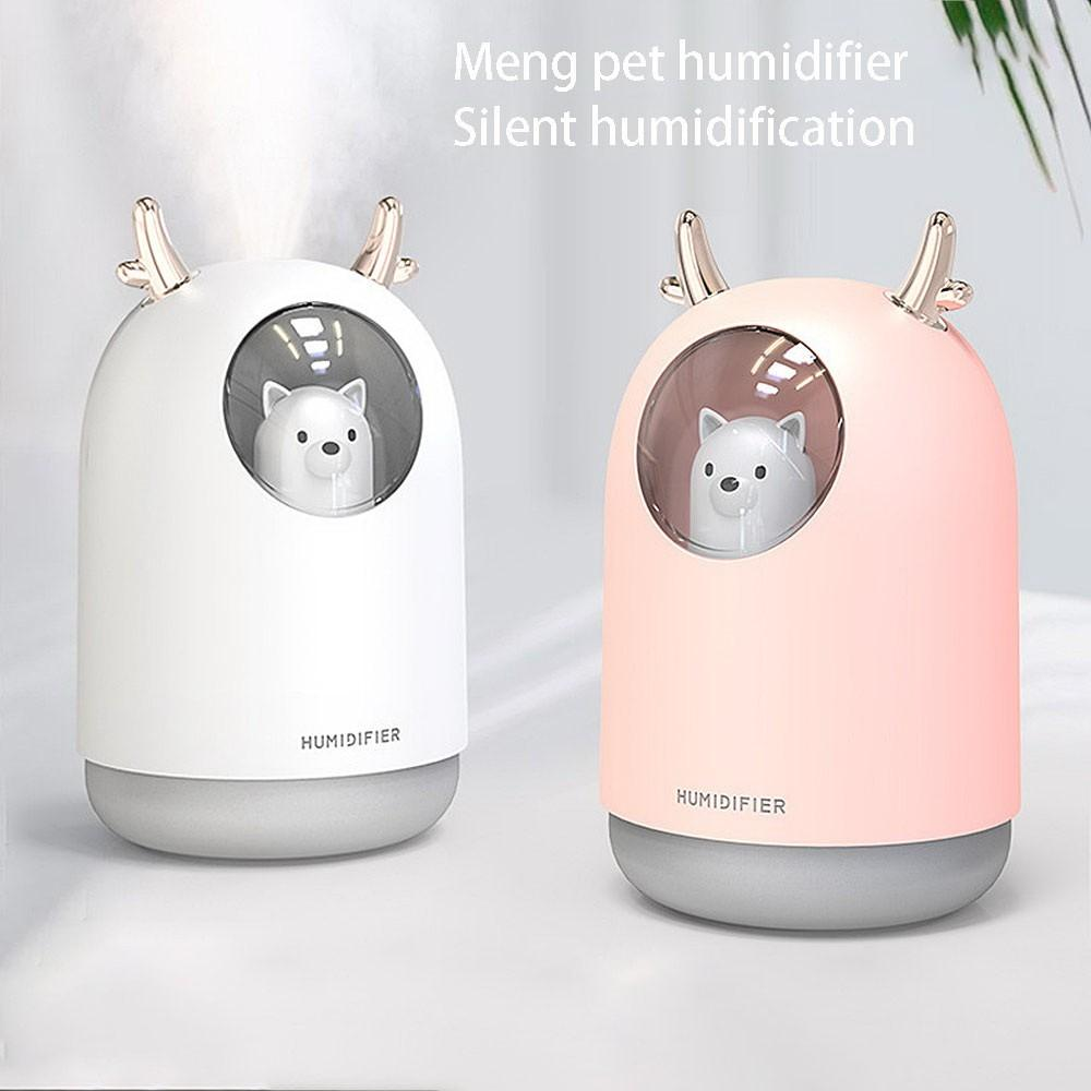 USB мини увлажнитель прохладный туман милый Портативный увлажнитель воздуха с ночным светом диффузор воздуха для спальни детская комната домашний офис автомобиля