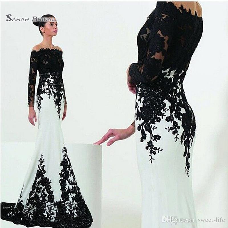 Off Hombro Vestido de la sirena Tamaño personalizado Talla grande Satin Applique Celebrity Webs Vestidos de Novia