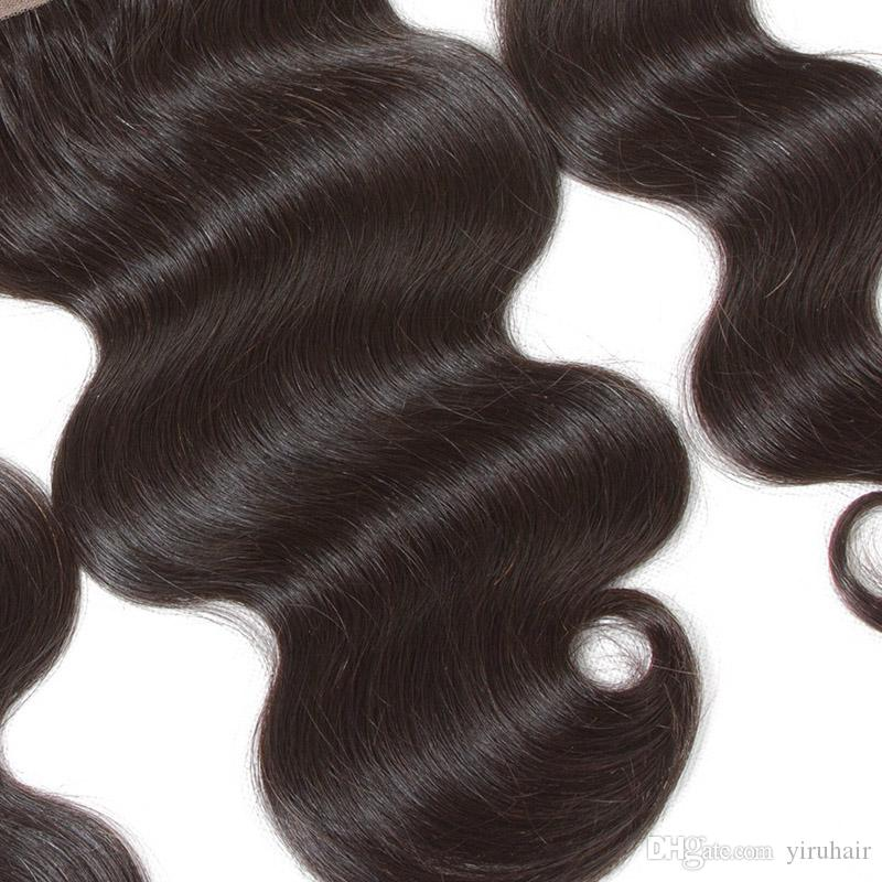 Indian Virgin Hair HD Lace Frontal 13X4 Body Wave Hair Products Natural Color Remy Hair Body Wave 13 By 4 Frontals