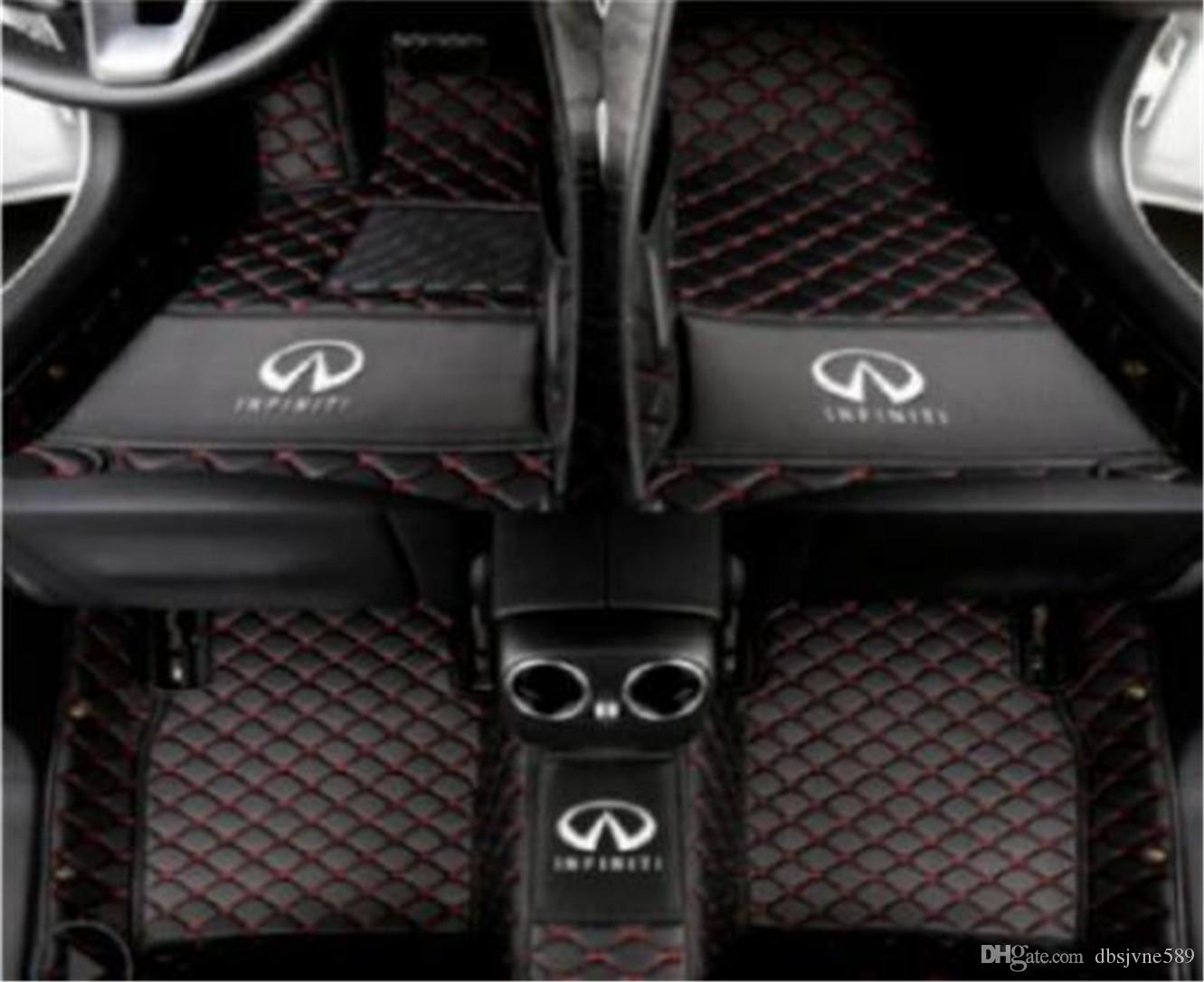 Custom Fit All-Weather 3D Covered XPE leather Car Carpet FloorLiner Floor Mats 3 rows for Infiniti QX80 with bench seat in the second row