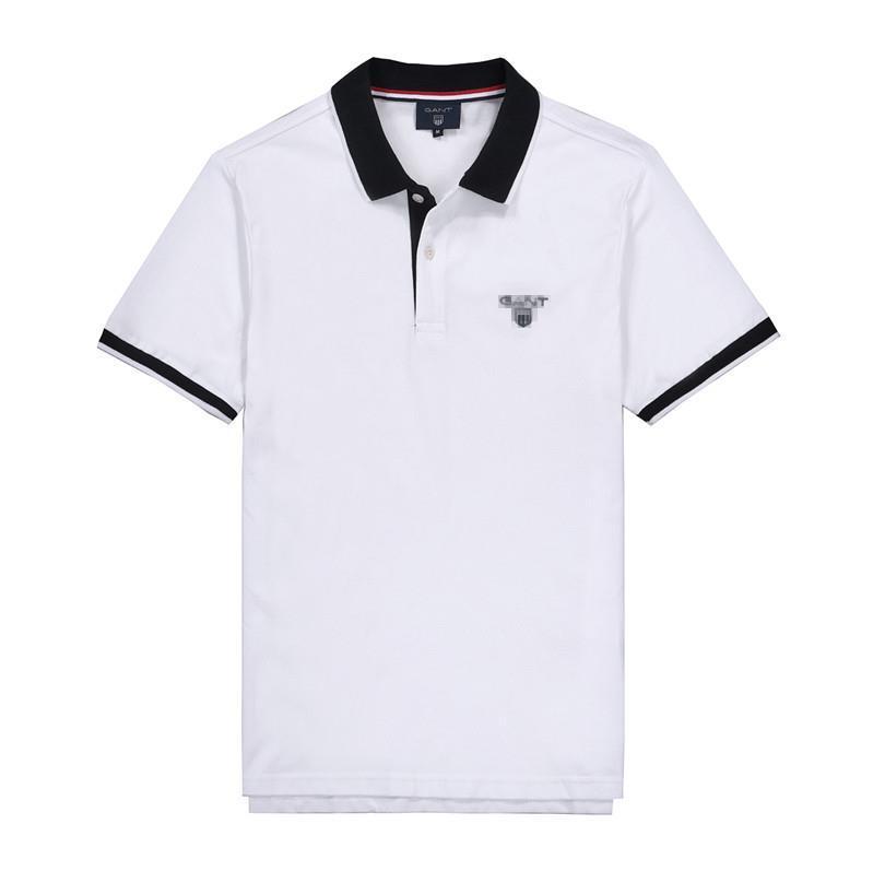 2020 Designer Hommes Chemises Eté Marque Hot Shirt Mens Fashion Luxe T-shirts manches courtes d'affaires Designer T-shirts Hauts zx 2020761K