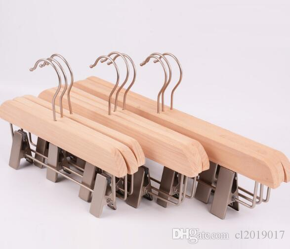 50pcs/lot fast shipping Adult and child hanger wood clothes hangers for pants rack wooden hanger pant clip