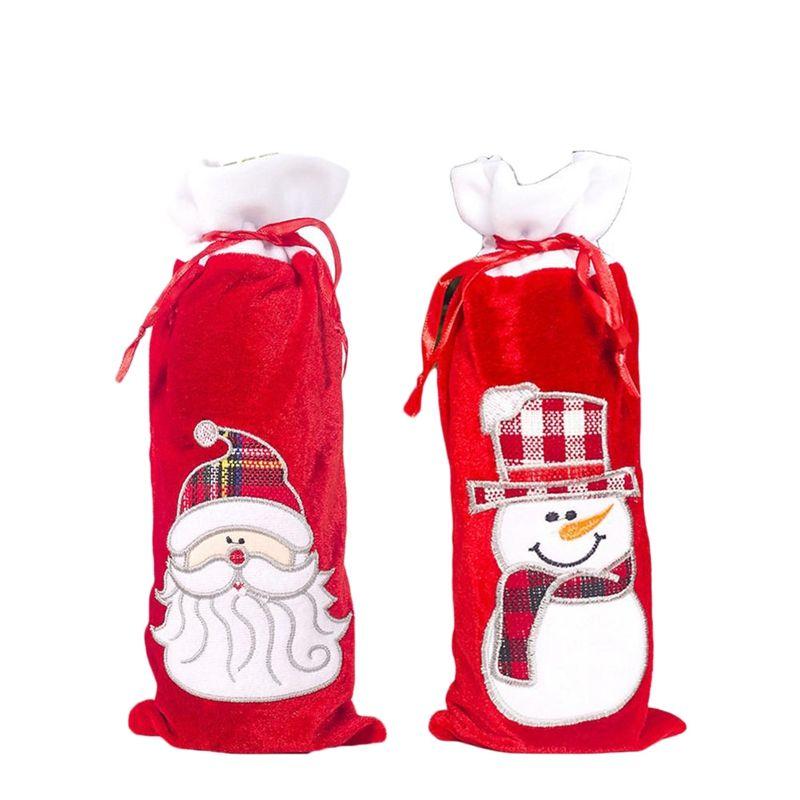 New 4 Pcs bouteille de vin de Noël Couverture Snowman Santa Sweater vacances Champagne Bottle Couverture Xmas Party Table salle à manger Bouteille Decora