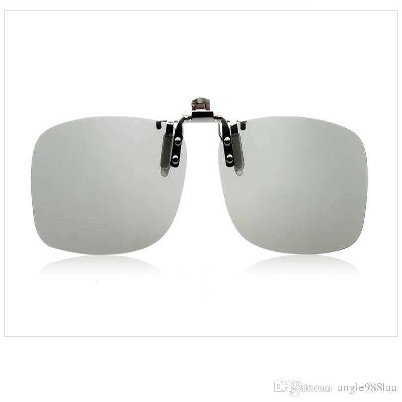 Clip in metallo in acciaio inossidabile Occhiali 3D di realtà virtuale occhiali polarizzati circolari passivi per cinema 3D, TV
