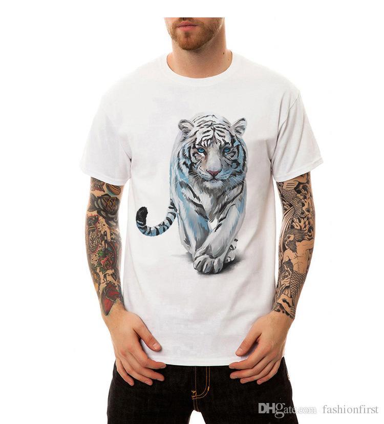 fashion tiger new t shirts fat man cotton T shirt Tees tops boys mens shirts print t shirt