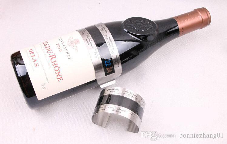 Termometro digitale LCD acciaio bracciale tester temperatura bottiglia vino