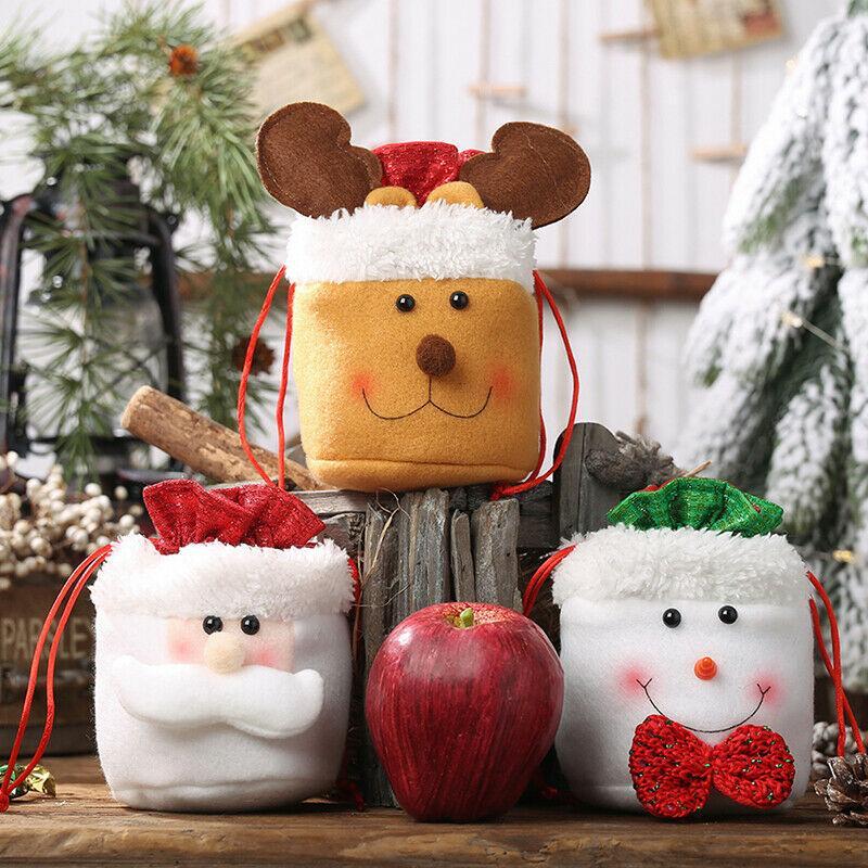 Caçoa o presente de Natal Doces Sacos de Papai Noel Boneco Elk armazenamento Decor Xmas Bolsa xmas decoração vintage xmas decorações