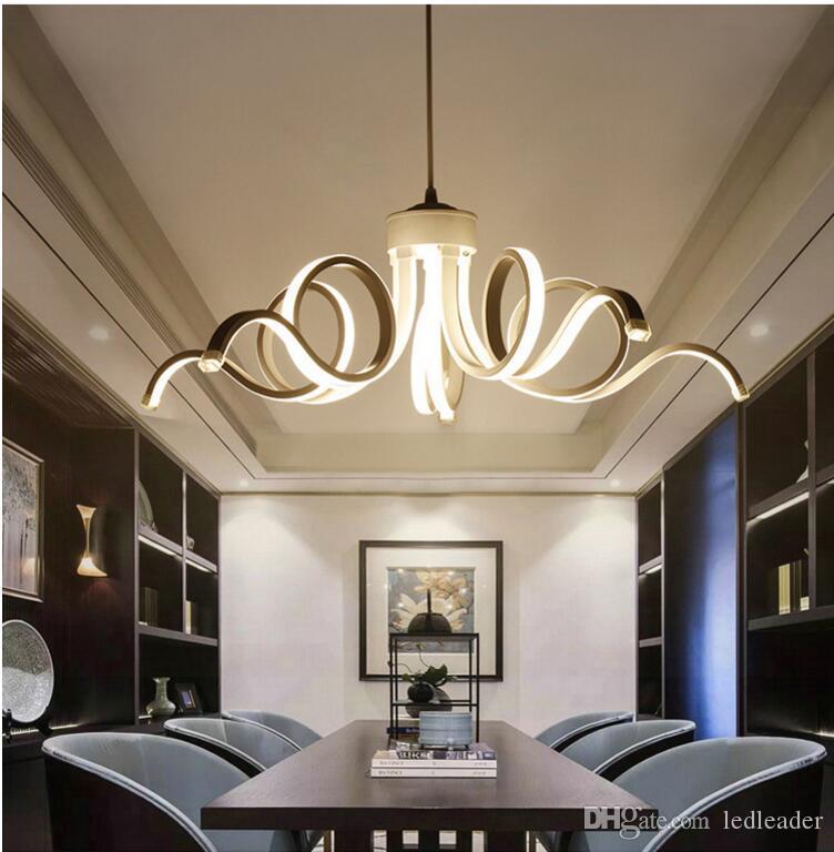 Beautiful decoration art pendant lamp acrylic aluminium pendant lighting for dinning room living romm bar pretty home lighting - R35