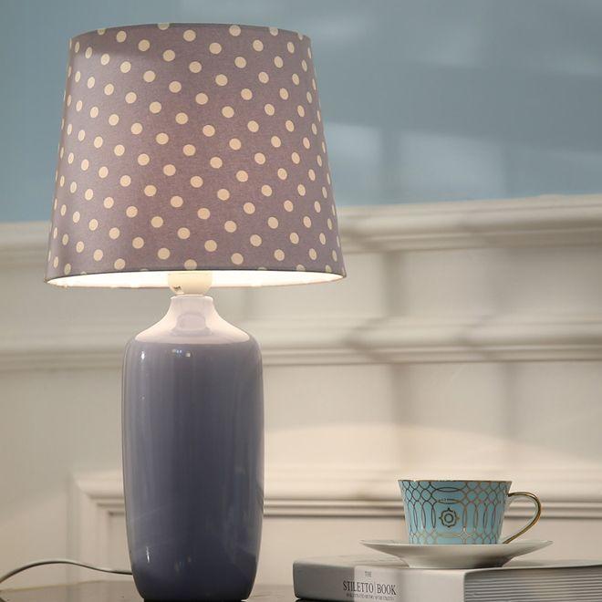 Neues Design zeitgenössischen kreativen Luxus D 26cm x H 48cm Keramik Tischleuchten mit Stoffschirm führte Schreibtischlicht für Schlafzimmer Arbeitszimmer