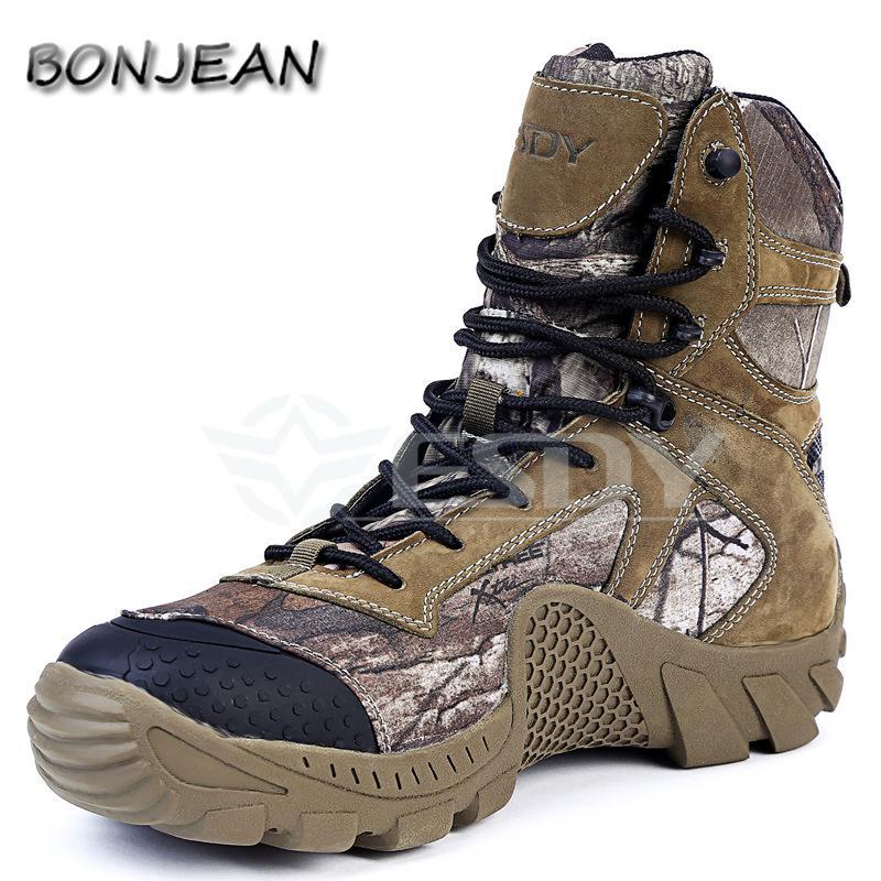 Army Men Boots Winter Lace-Up Impermeable Combate Tobillo Táctico Snow Boot Man Plus Zapatos de trabajo de gran tamaño Botas de combate