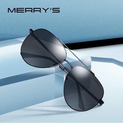 MERRYS DESIGN Men Classic Pilot Sunglasses Aviation Frame HD Gafas de sol polarizadas para hombres con protección UV400 S8138