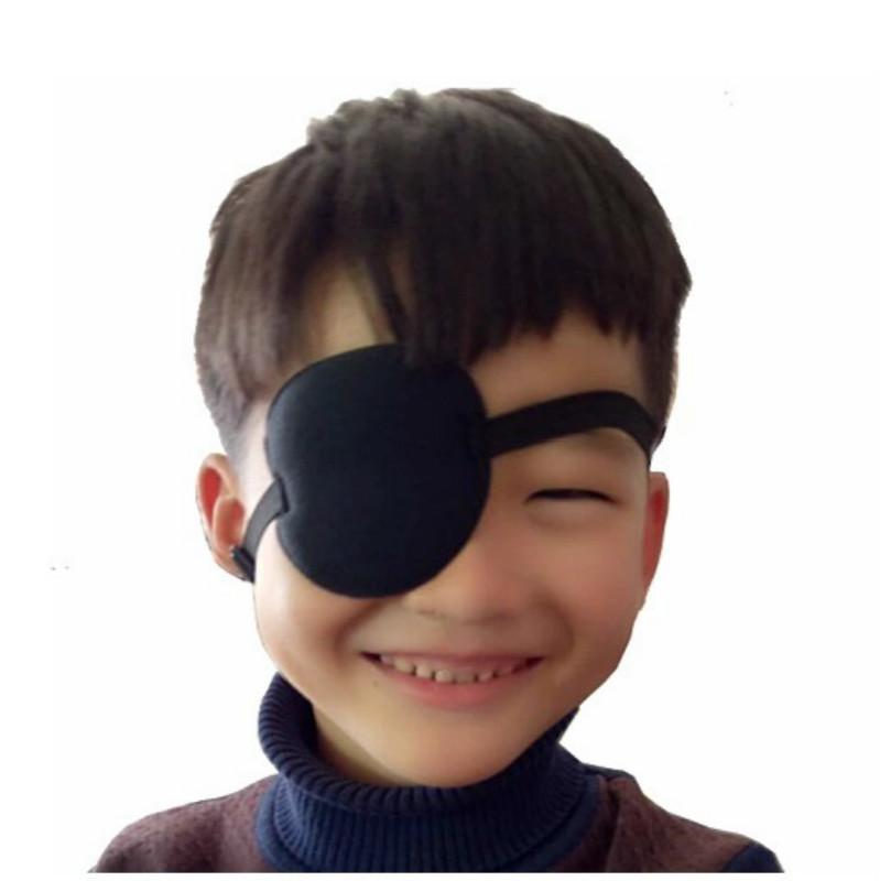Small Black Leather Eye Patch Pirate Halloween Cosplay Costume Eye Wear Unisex