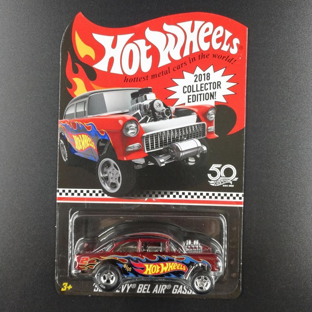 Edición 50º Aniversario de metal de fundición Coches Kids Collection juguetes Vehículo Para Y200318 regalo caliente de las ruedas del coche del Bel Air de Chevy GASSERCollector