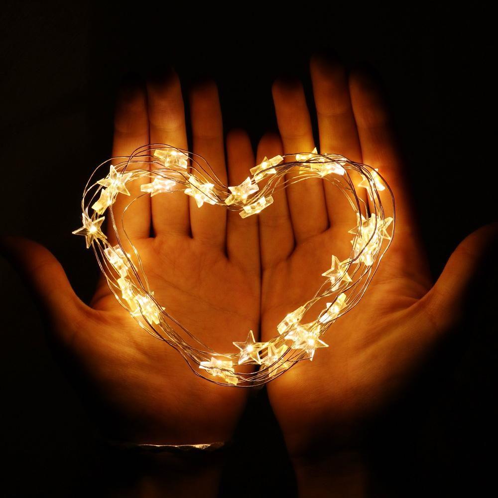 30 LED 3M Estrela do fio de cobre de corda luzes LED luzes de fadas do casamento do Natal Luzes Decoração bateria Operar Twinkle Iluminação Nova