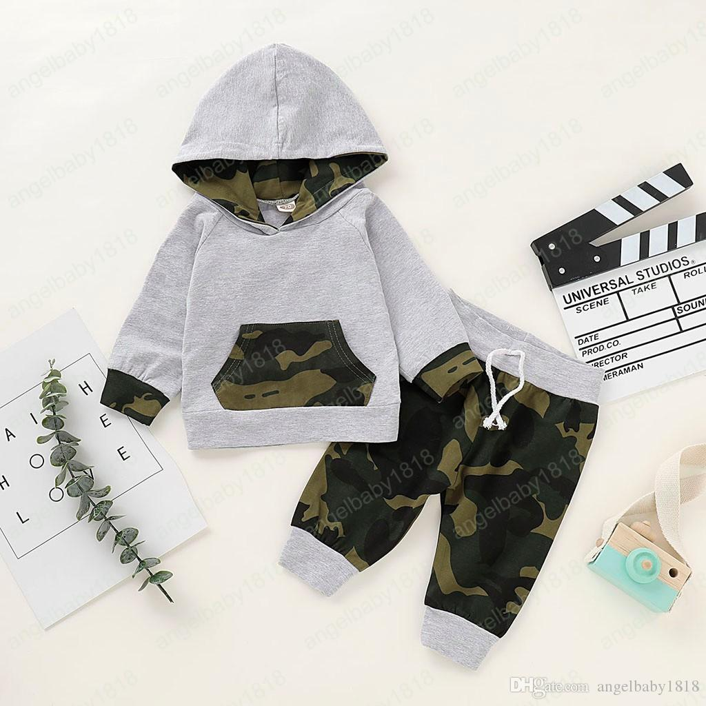Baby Boys Girls Letter Print Short Sleeve Hooded T-Shirt Trousers Casual Trajes