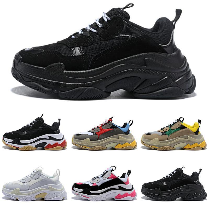 Balenciaga vendita Uomini Donne Sport Triple-S scarpe da ginnastica qualità TOP Vintage Kanye vecchio nonno informale all'aperto Tempo libero papà formatori Scarpe di lusso