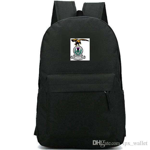 Mochila Inverness Caledonian FC mochila Eagle Logo do clube de futebol mochila Equipe de futebol crachá mochila Saco de escola de desporto Pacote de dia ao ar livre