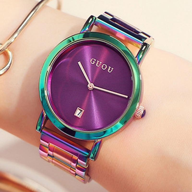 wholesale Women's Watches Colorful Montre Femme 2019 Ladies Watch Bracelet Watches For Women Clock Women Calendar reloj mujer saat