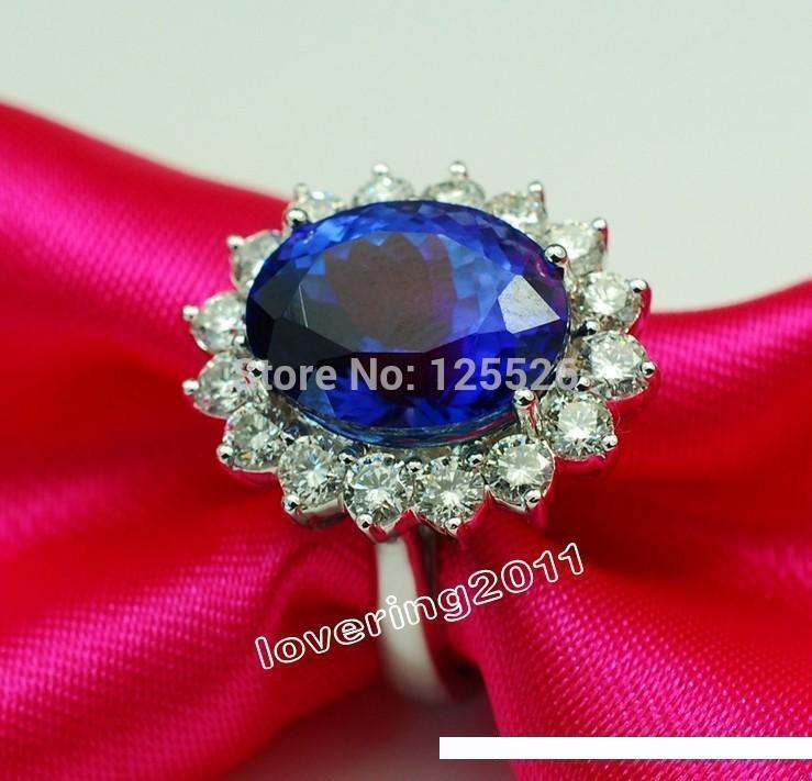 005 Victoria Wieck deslumbrante Sapphire piedras preciosas de diamante simulado 10kt oro llenado real del anillo de bodas SZ 5-10