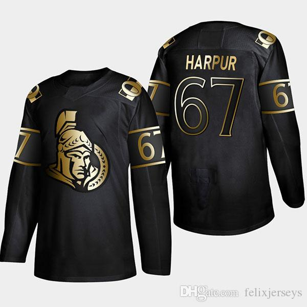 2021 67 Ben Harpur 2019 Gold Black Ottawa Senators Joey Daccord ...