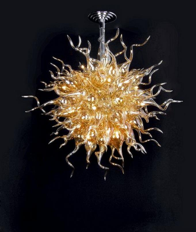 Home Goods High Quality Modern Hand Blown Glass Pendant Light Chihuly Style Murano Glass Chandelier Crystals