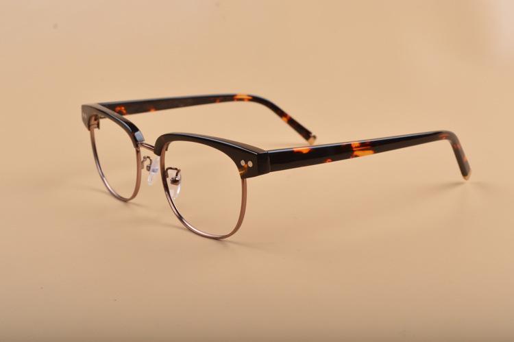 الفاخرة-العين الحاجب محبي الفن النظارات الإطار 49-19-145 معدنية ذات جودة عالية+لوح وصفة طبية الإطار الكامل-تعيين الحالة OEM مصنع