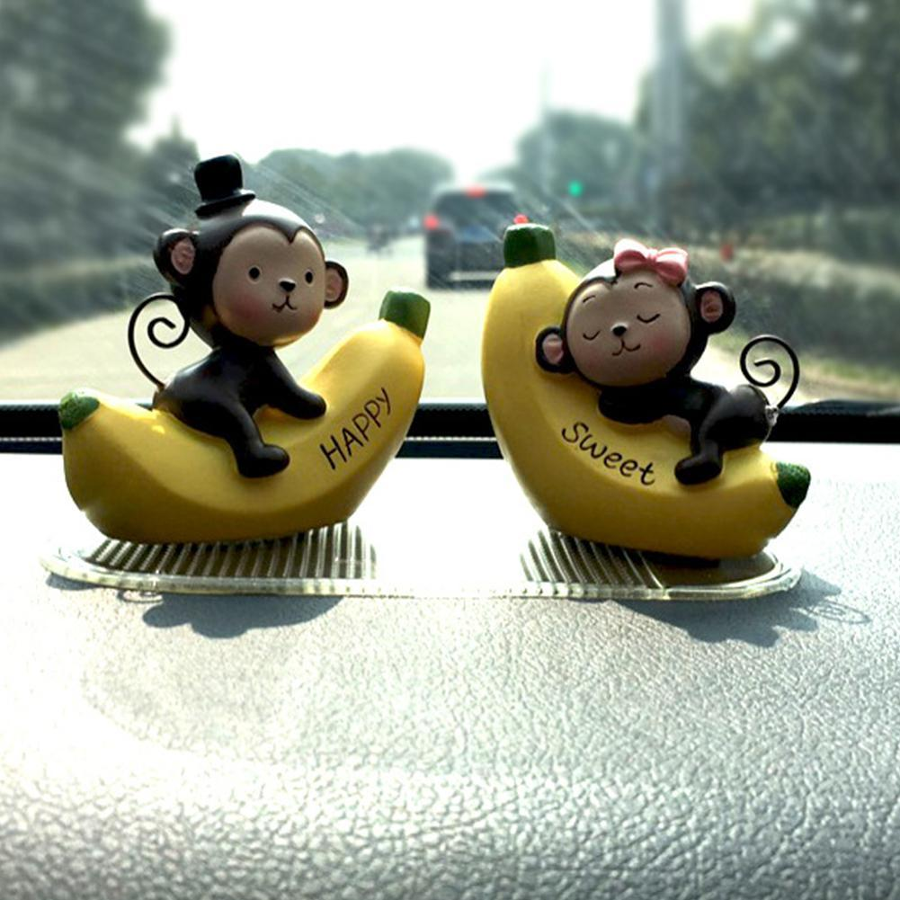 Macaco Banana Resina Acessórios carro decoração carro bonito Automotive Ornamentos