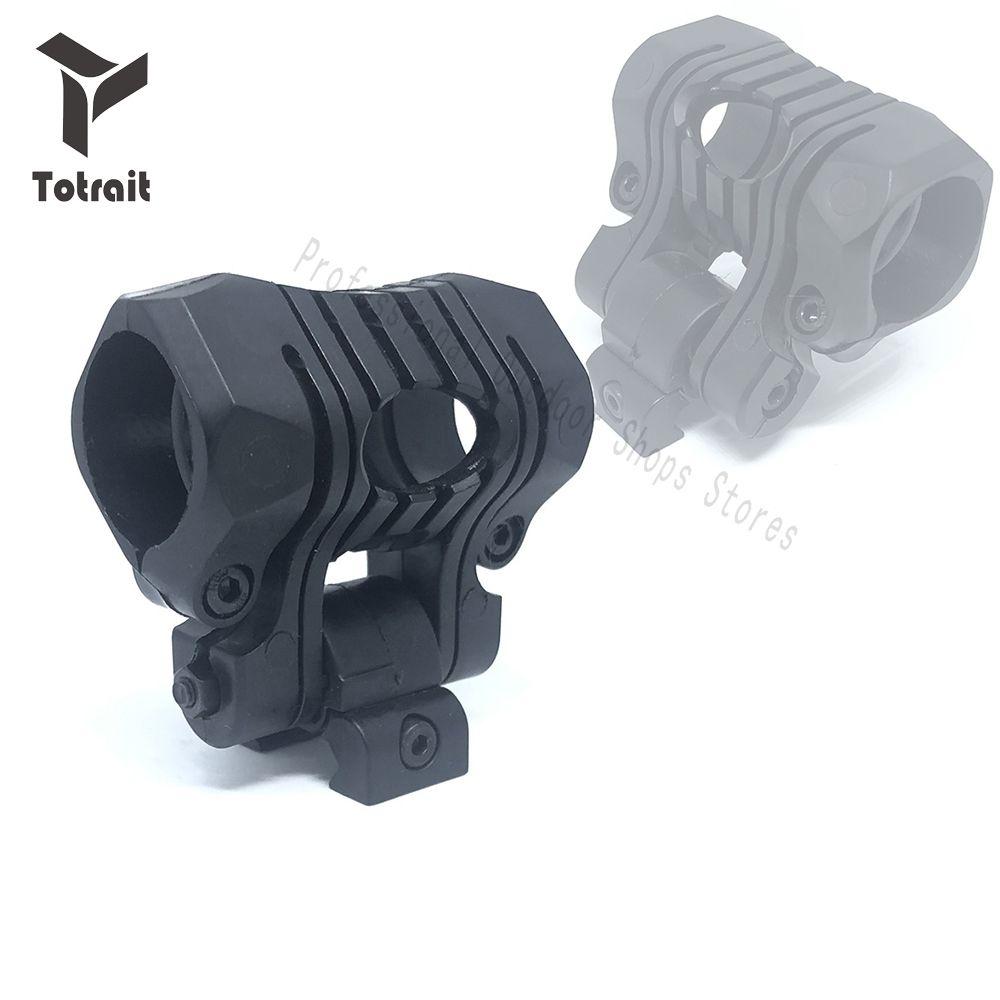 TOtrait Light Mount 1Inch / 25Mm 5 Position Flashlight Clip Element For Airsoft Flashlight Laser Picatinny 20Mm Rail Mount Gun Lights