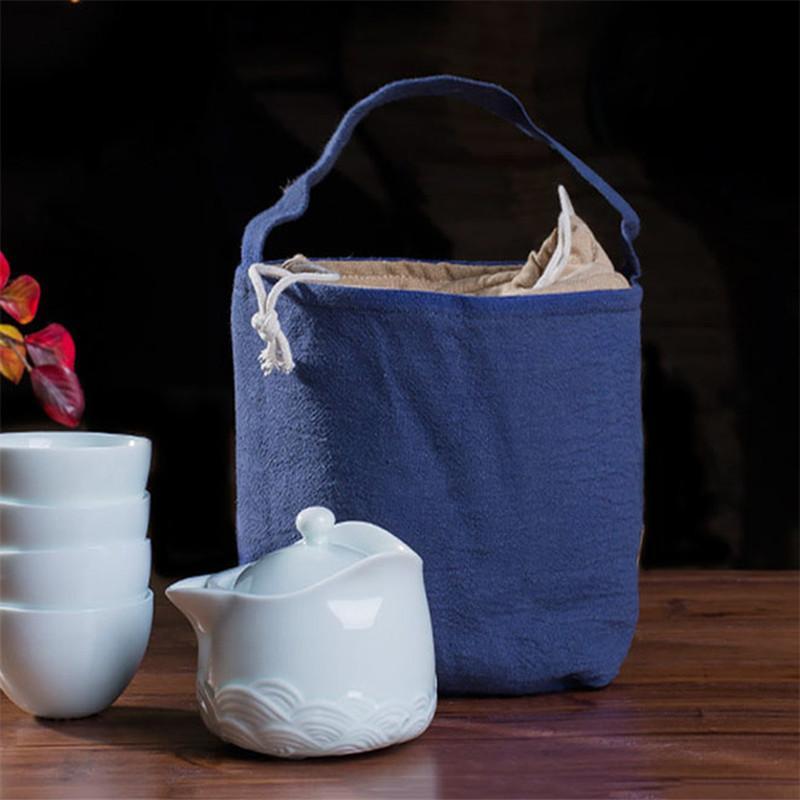 çay oyuncak ve çay seti Tercihi için saklama torbaları saklama torbası giysi saklama kutusu torbasını cozies