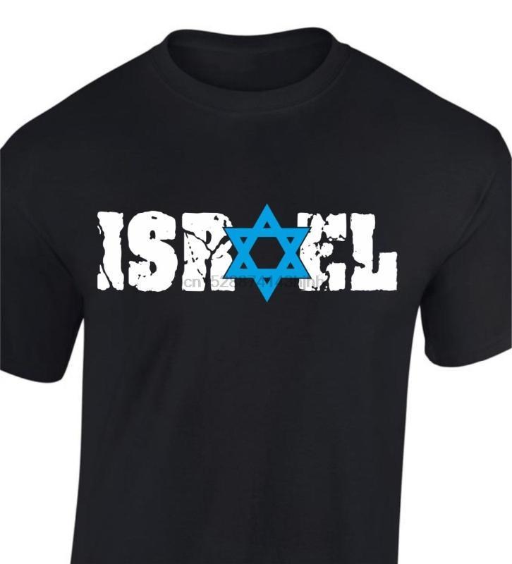 Nova Moda Homens de manga curta Israel t-shirt estrela de David T camisa Tops patrióticos básicas