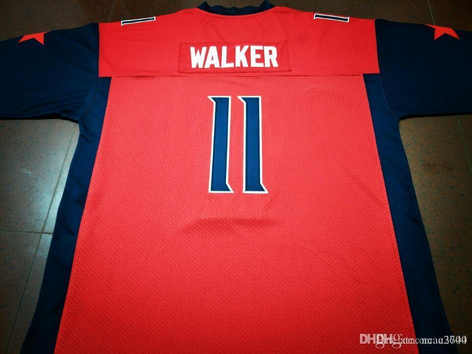 Männer Jugend Frauen Xfl 2020 Houston Roughnecks # 11 Phillip Walker wirkliche Stickereifußball Jersey oder benutzerdefinierten beliebigen Namen oder Nummer College Jersey