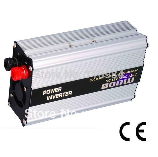 Livraison gratuite !! Onduleur de voiture 800W DC12V à AC220V alimentation de véhicule commutateur chargeur de voiture inverseur