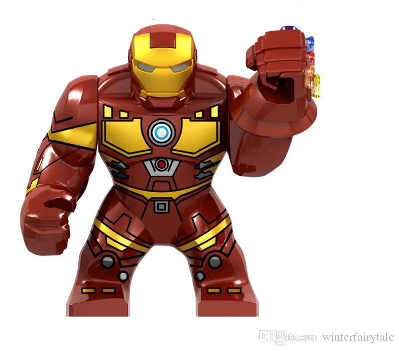 Hot selling building blocks 1 iron man big headband infinite gloves educational puzzle building blocks children toys 0002