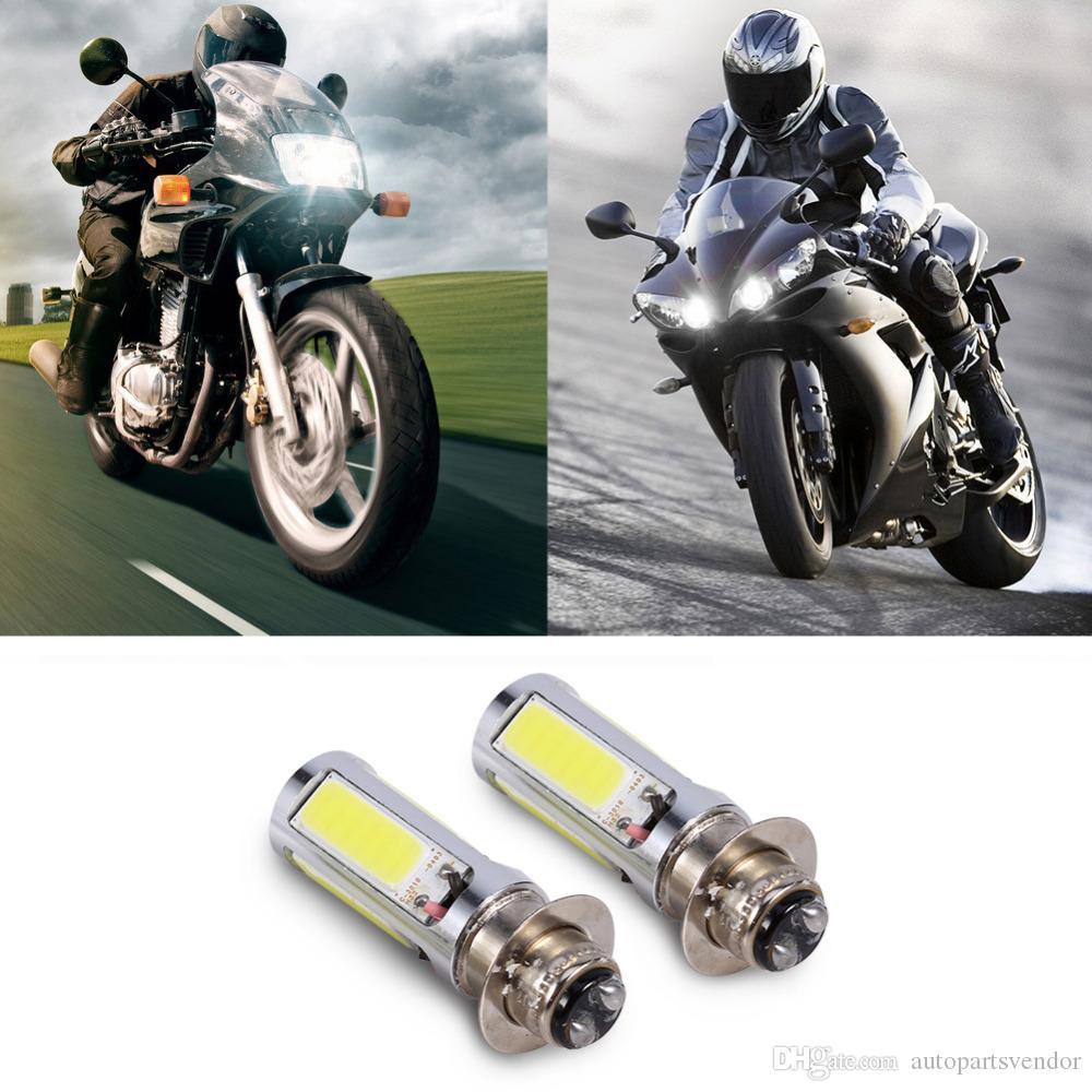 2pcs 6000K белый фара лампа Фара Лампа подходит для большинства мотоциклов / ATV / мотоцикл с H6M / PX15d / P15D25-1 Гнездо