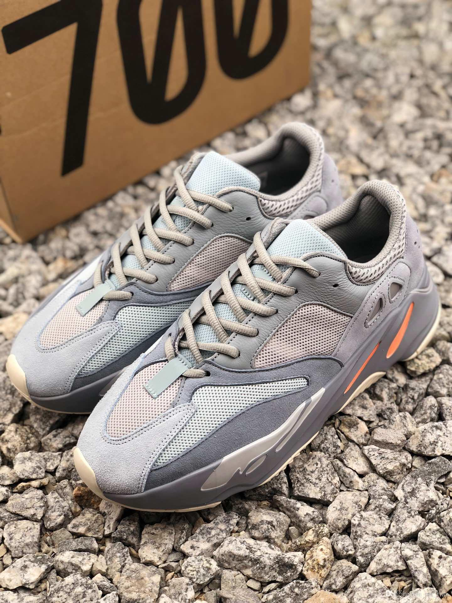 Acheter Adidas Yeezy 700 V2 Boost Running Shoes 2019 Nouvelles Chaussures  De Course 700 V2 Salt Pour Hommes Et Femmes. Baskets Mode B75571 Euro 36 46  ...