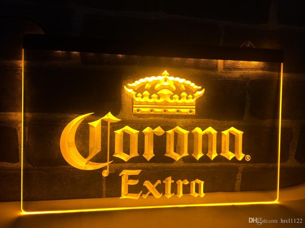 A013 Corona Extra Beer Bar Pub Cafe LED неоновый свет Вход