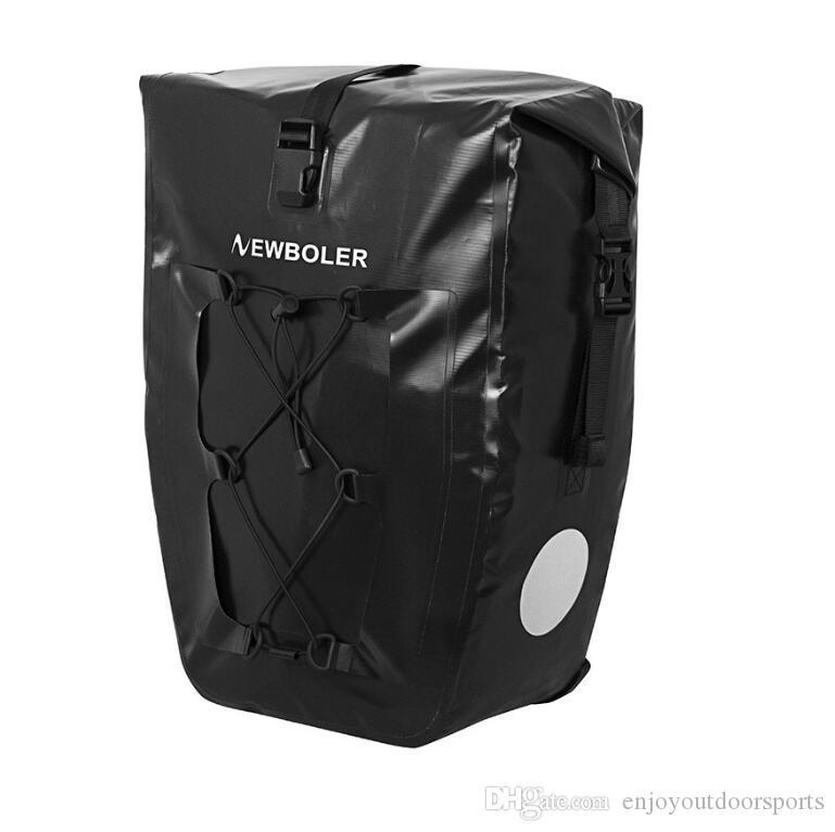 25L Waterproof Bike Bag MTB Road Bike Bicycle Rear Rack Pannier Bag Cycling Rear Seat Bag Shoulder Pack Luggage Carrier Bicycle Accessories