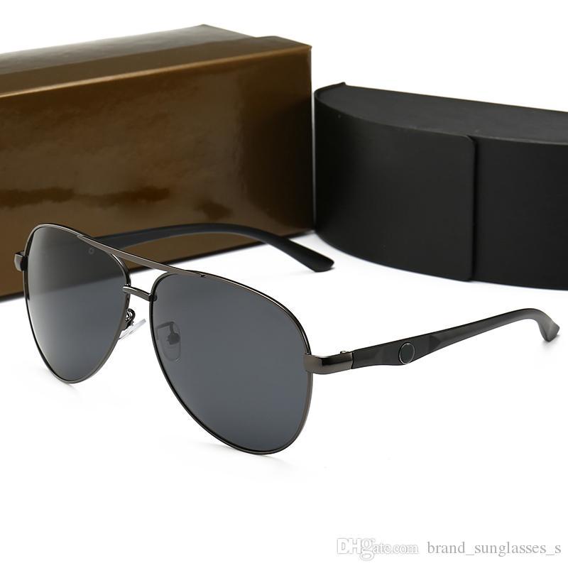 D Nouveau cadre en métal de mode polarisé lunettes de soleil hommes européens et américains tendance lunettes de soleil personnalisées top marque grand cadre lunettes 0115