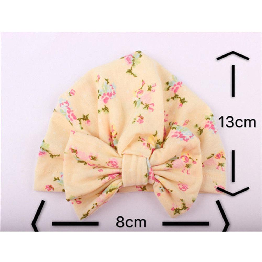0-2Y Newborn Toddler Kids Baby Girl Flower Hats 2018 Brand New Turban Cotton Beanie Hat Winter Cap Lovely D15