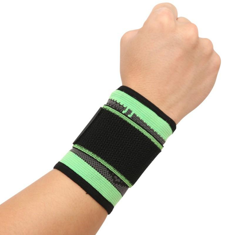 Suporte de pulso Suporte de proteção Bandagem Compressão protege tibia Formadores Cinto Esportes Luvas de proteção Mangas elásticas ajustáveis