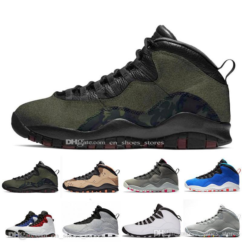 Desert Camo 10s Scarpe da pallacanestro Woodland Orland Cement 10 Westbrook Im retro Dark Smoke Grigio Steel Grey Sport uomo Sneakers 41-47