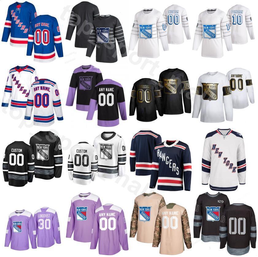 New York Rangers de hockey sobre hielo 2020 All Star 10 Artemi Panarin jerseys Hombres 93 Mika Zibanejad 16 Ryan Strome 24 Kaapo Kakko