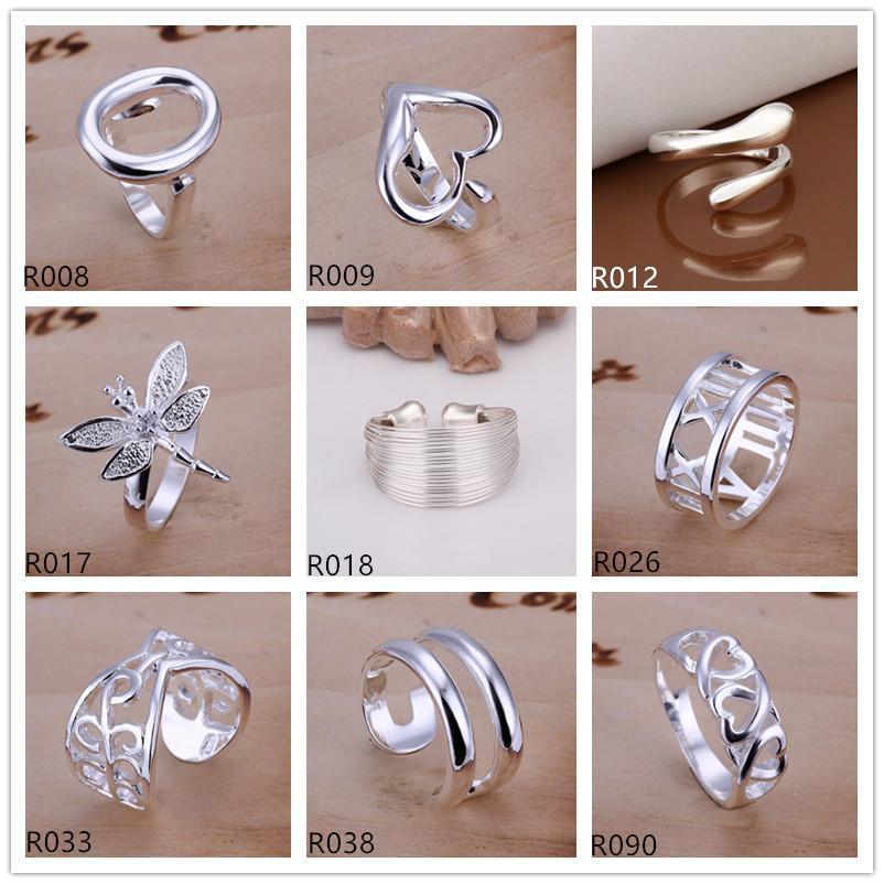 anello in argento sterling molto misto EMR1, nuovi modelli scoppiano moda anello in argento 925