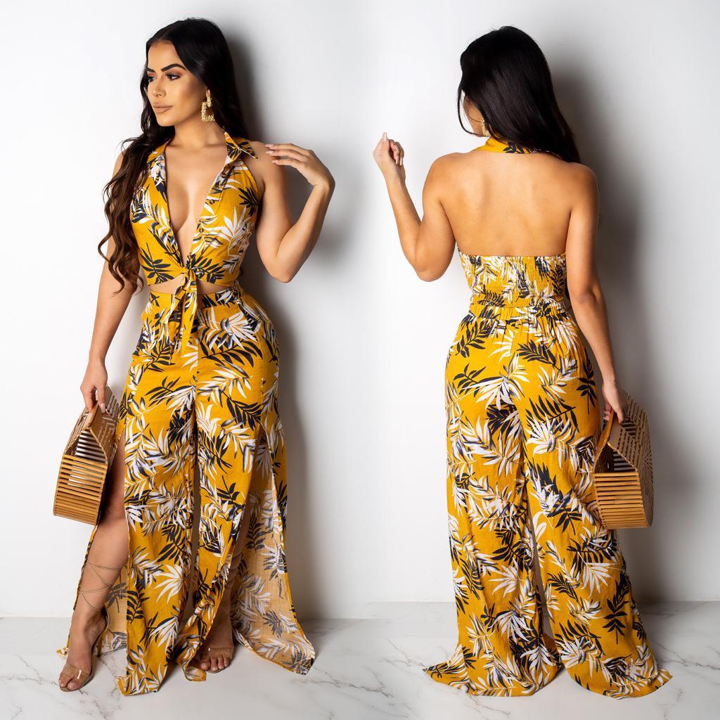 Frauen Kleider Art und Weise Sommer-neue Qualitäts-Kleider Print Weiseluxuxfrauen Designer Kleider Frauen Luxuxentwerfer Sommer-reizvolle zweiteilige Klage