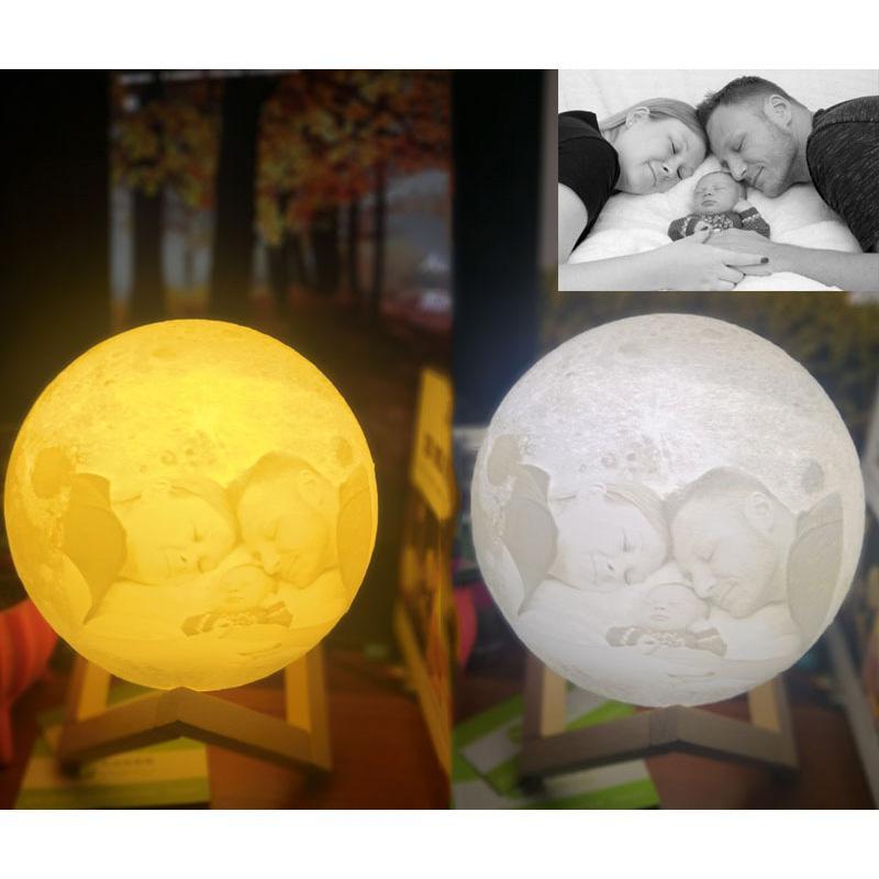3D Led Night Moon Light Настольная лампа USB аккумуляторная 3D Light Плавное для украшения дома рождественские огни День Святого Валентина Дети подарков HH9-2644