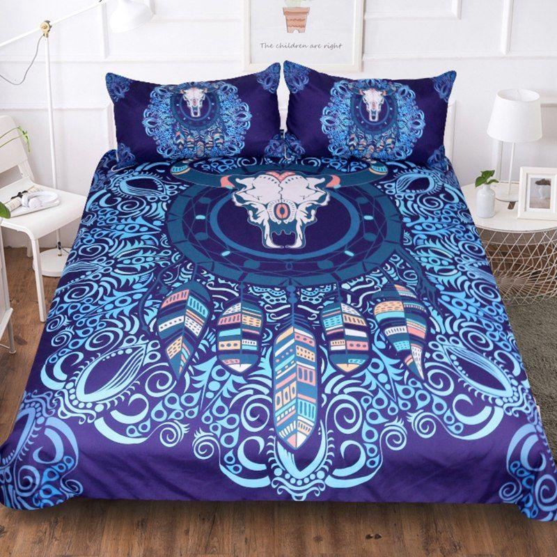 New Smart Dream Catcher Quilt Cover Bedding Suit Fashion 60s Cotton Bed Cover Suit 4pcs New Style Bedding Sets