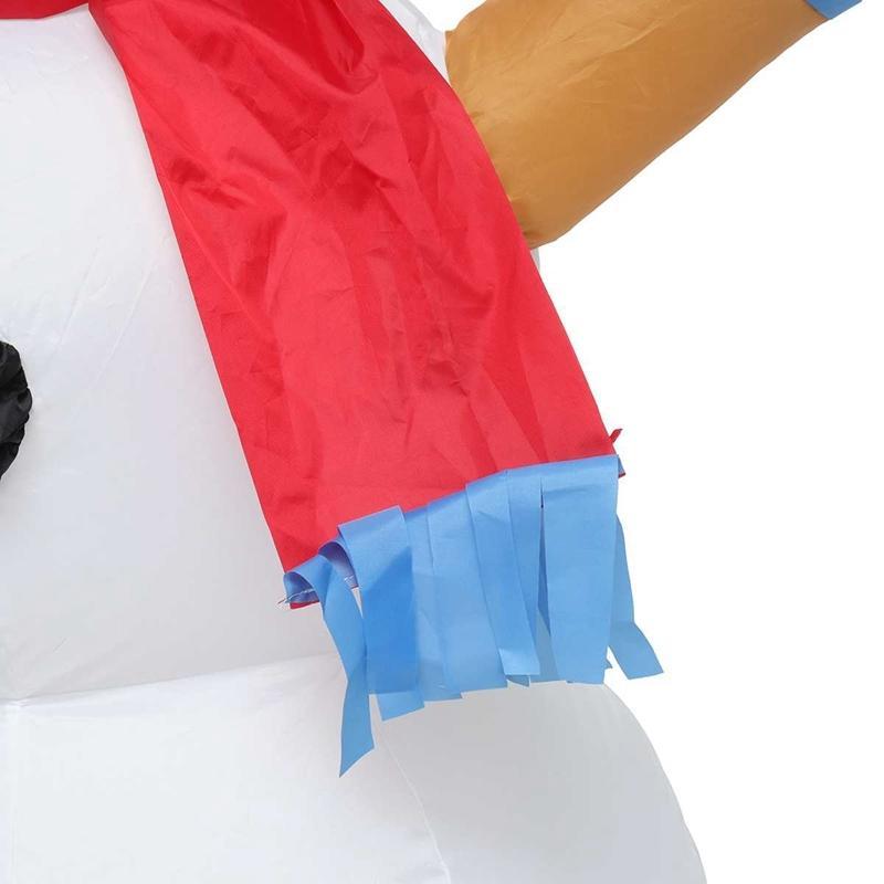 1.2M Рождественский Снеговик Красочный Rotate светодиодные Надувная модель Снеговик Doll Метла Обложка Новогоднее украшение с вентилятором