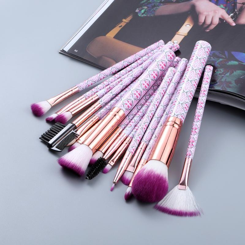 / 15pcs 10/05 Klasik Makyaj Fırçalar Seti Pudra Göz Farı Vakfı Kenar Kontrol Fırçası Brochas maquillaje Maquiagem Kozmetik